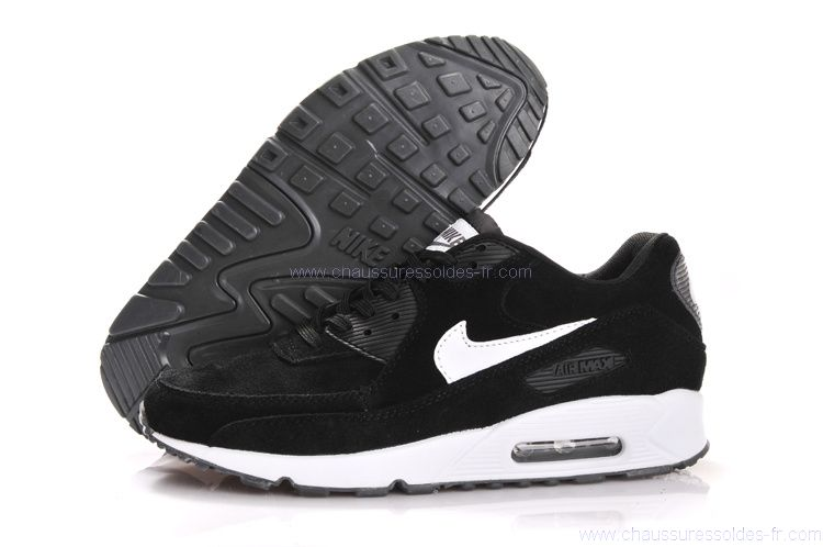 pretty nice 31a67 b1004 Chaussures Acheter Nike Air Max 90 Femme Noir Et Blanc M90F87
