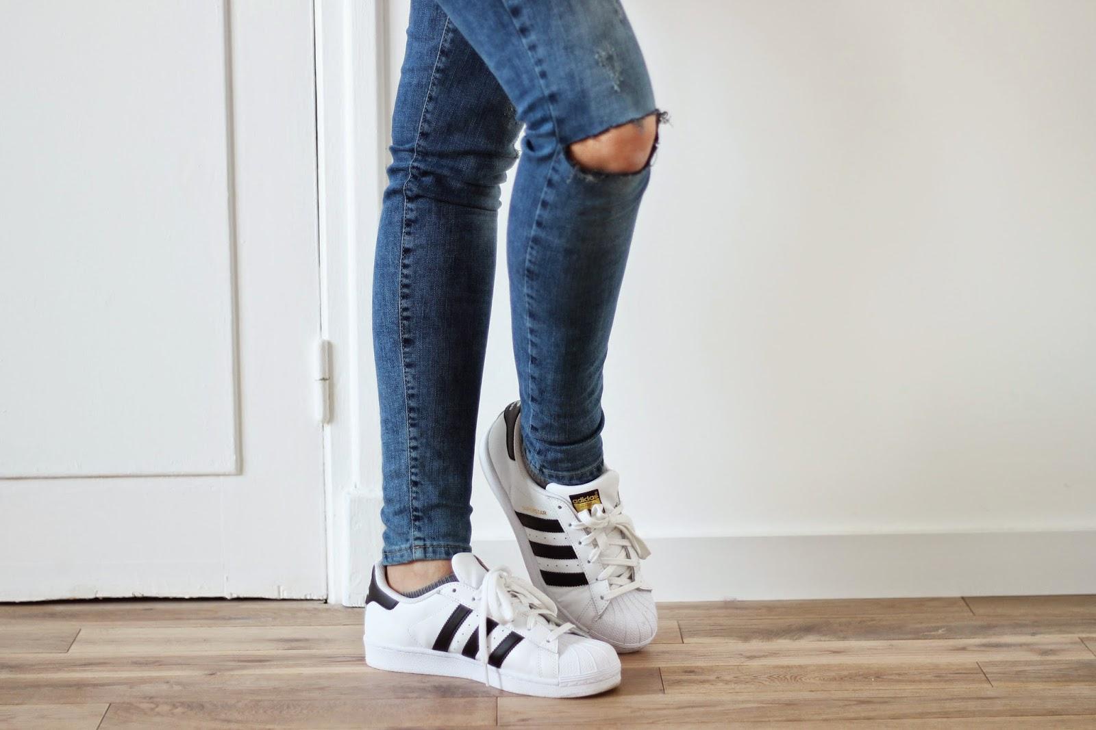 superstar adidas femme blanche