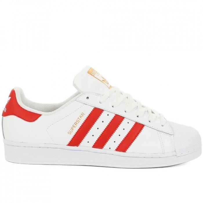 adidas superstar rouge et blanc femme