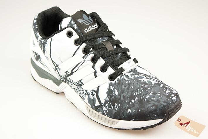 adidas zx flux femme blanche et noir
