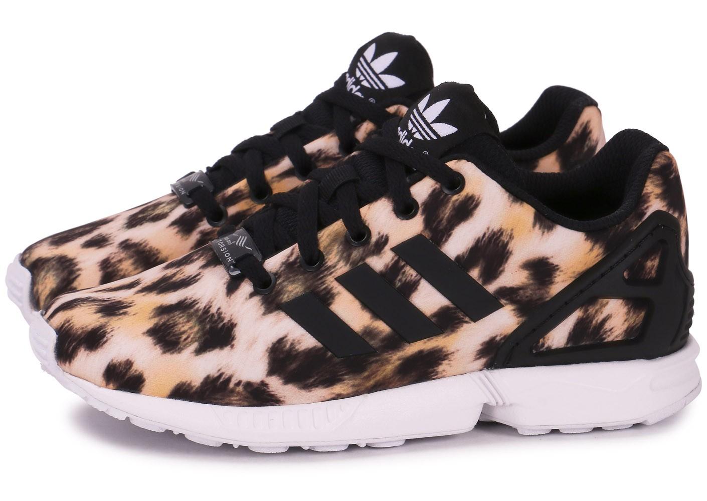 adidas zx flux femme leopard noir