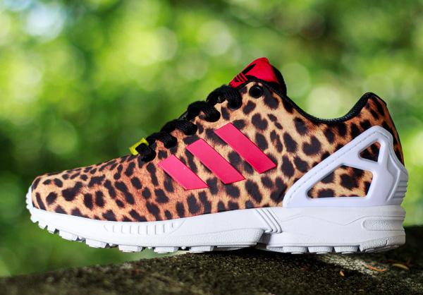 adidas zx flux leopard noir femme