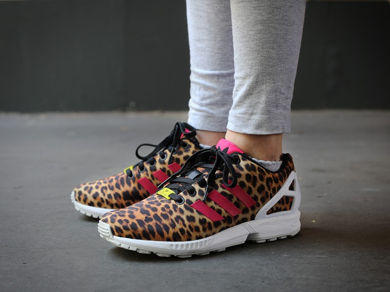 adidas zx flux leopard homme