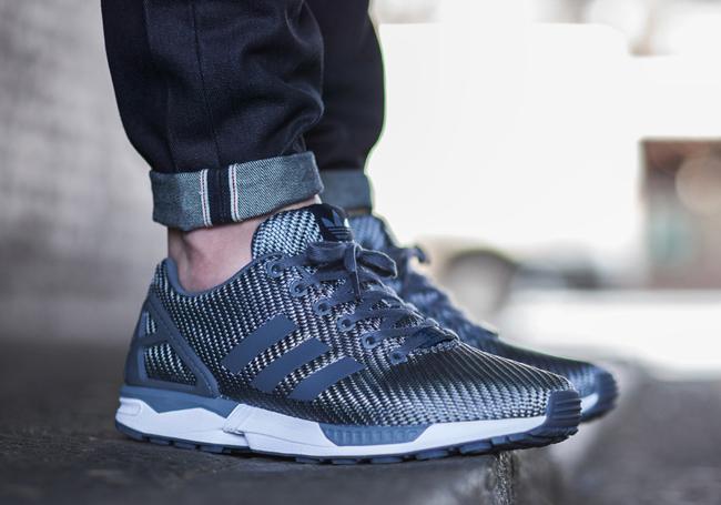 sports shoes d7cbe 905ee Adidas Zx Flux Homme Bleu Ju896